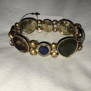 Chico's Reversible Multi-Colored Stretch Bracelet
